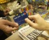 Consumers continue to use their debit cards for small purchases.